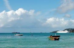 Uroczysta Anse plaża Grenada Zdjęcia Royalty Free
