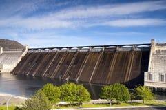 Uroczysta Coulee elektrowni Kolumbia Grobelna Hydroelektryczna rzeka Zdjęcie Royalty Free