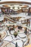 Uroczysta foyeru MS królowa Elizabeth Zdjęcie Stock