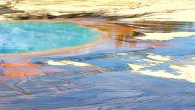 uroczysta graniastosłupowa wiosna Yellowstone zdjęcie wideo