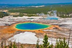 Uroczysta Graniastosłupowa wiosna w Yellowstone parku narodowym Fotografia Royalty Free