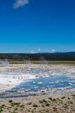 Uroczysta Graniastosłupowa wiosny Yellowstone parka narodowego panorama Obrazy Stock