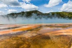 Uroczysta Graniastosłupowa wiosny Yellowstone parka narodowego panorama Zdjęcia Stock