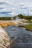 Uroczysta Graniastosłupowa wiosny Yellowstone parka narodowego panorama Zdjęcie Stock