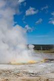 Uroczysta Graniastosłupowa wiosny Yellowstone parka narodowego panorama Zdjęcia Royalty Free