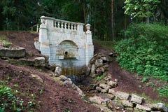 Uroczysta kaskada w parku Pavlovsk saint petersburg Obraz Royalty Free