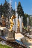 Uroczysta kaskadowa fontanna obraz royalty free