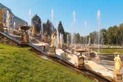 Uroczysta kaskadowa fontanna obrazy royalty free