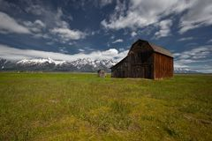 Uroczysta Tetons parka narodowego sceneria obrazy stock