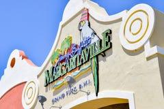 Uroczysta turczynka, turczynki i Caicos wyspy, - Kwiecień 03 2014: Jimmy Buffett ` s Margaritaville Zdjęcia Royalty Free