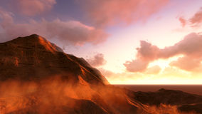 Uroczystego jaru Mars i park narodowy Obrazy Stock