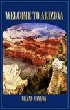 Uroczystego jaru park narodowy, Arizona, podróż plakat obraz royalty free