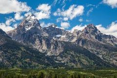 uroczystego obywatela panoramiczny parkowy teton usa przeglądać Wyoming Zdjęcie Stock