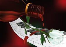 uroczystego pianina whisky royalty ilustracja