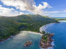 Uroczysty Anse na Praslin wyspie, Seychelles Obraz Royalty Free