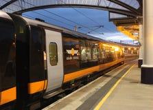 Uroczysty centrala pociąg w Jork staci kolejowej Zdjęcie Royalty Free