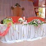 uroczysty dekorujący stół Fotografia Royalty Free