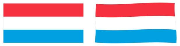 Uroczysty Duchy Luksemburg flaga Prosty i nieznacznie machający versi ilustracji