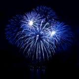 Uroczysty fajerwerk w nocnym niebie Obrazy Royalty Free