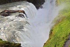 Uroczysty Gullfoss w Iceland Fotografia Stock