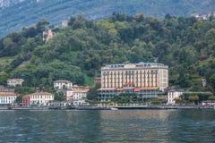 Uroczysty Hotelowy Tremezzo w Tremezzina, Włochy Zdjęcie Royalty Free