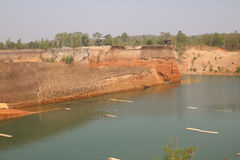 Uroczysty jar w Chiang Mai, Tajlandia Rezerwuar od starej ziemi kopalni Obrazy Stock