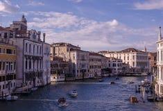 Uroczysty kanał, Wenecja Zdjęcia Stock