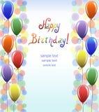 Colourful balony. Urodzinowy prezent. Zdjęcia Stock