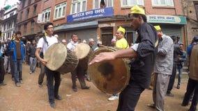 Uroczysty korowód w Kathmandu, Nepal zdjęcie wideo