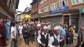 Uroczysty korowód w Kathmandu, Nepal zbiory