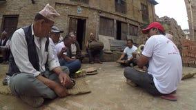 Uroczysty korowód w Kathmandu, Nepal zbiory wideo