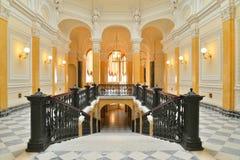 Uroczysty Marmurowy schody w Uroczystym Gatchina pałac Obraz Stock