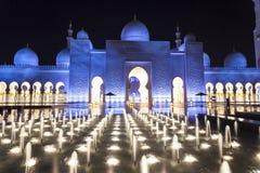 Uroczysty meczet w Abu Dhabi, UAE Fotografia Stock