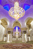 Uroczysty meczet w Abu Dhabi, UAE Zdjęcie Royalty Free