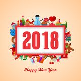 Uroczysty nowego roku plakat na miękkich części menchii tle Obraz Stock