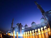Uroczysty oświetlenie w meczecie Zdjęcie Stock
