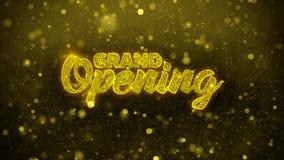 Uroczysty otwarcie Życzy powitanie kartę, zaproszenie, świętowanie fajerwerk
