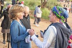 Uroczysty otwarcie gazeli doliny park w Jerozolima Fotografia Stock