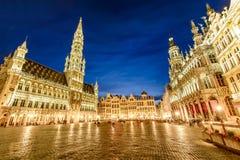 Uroczysty pałac Markt w Bruksela lub Grote, Belgia zdjęcia stock