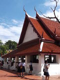 Uroczysty pałac w Thonburi okresie Fotografia Stock