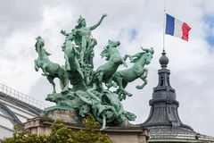 Uroczysty Palais Paryż Francja Obrazy Royalty Free