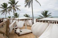 Uroczysty pallad plaży bar II zdjęcia royalty free