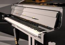 Uroczysty pianino na scenie Obraz Stock