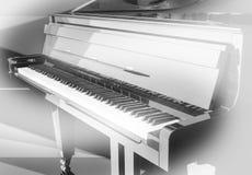 Uroczysty pianino na scenie Fotografia Stock
