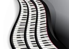 Uroczysty pianino wpisuje falistego Obraz Royalty Free