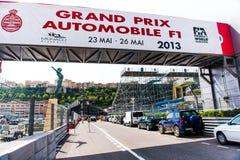 Uroczysty Prix samochodu F1 szyld Fotografia Royalty Free