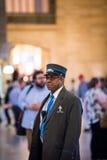 Uroczysty Środkowy stacja metru agent ochrony w Manhattan na bu Zdjęcie Royalty Free