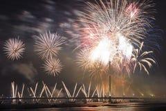 Uroczysty salut w Ryskim Zdjęcia Royalty Free