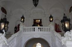 Uroczysty schody Schloss belweder w Wiedeń Zdjęcia Royalty Free