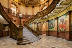Uroczysty schody w Kolorado Capitol Obraz Royalty Free